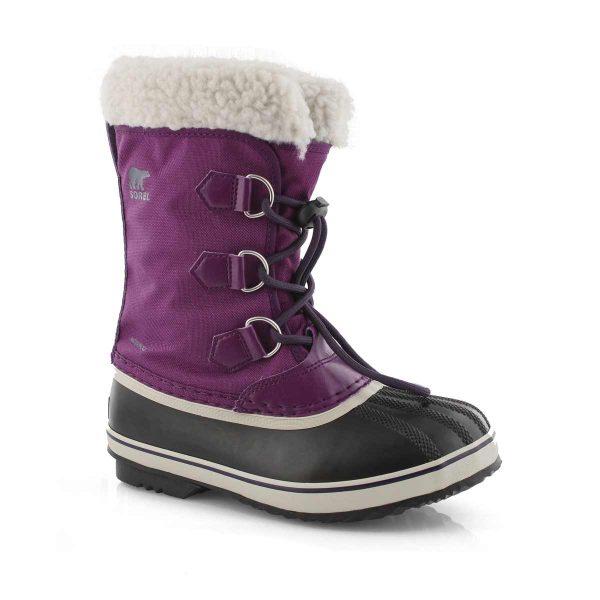 sorel yoot wild iris dark plum boot