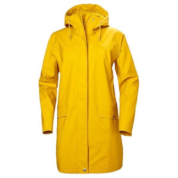 Helly Hansen Women Moss Rain Coat Essential Yellow