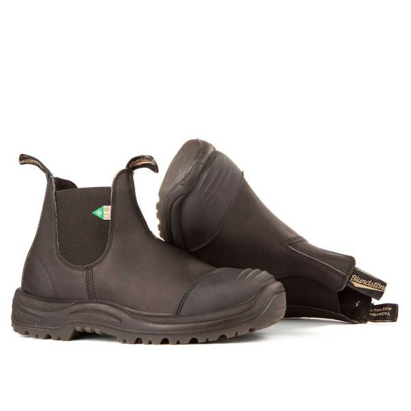 Blundstone Work and Safefy Boots Rubber Toe Cap Black-168