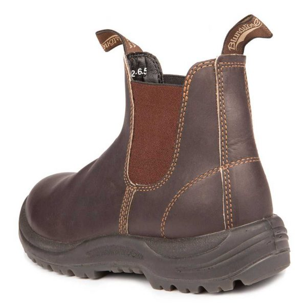 Blundstone Work and Safety Boot Stout Brown 162