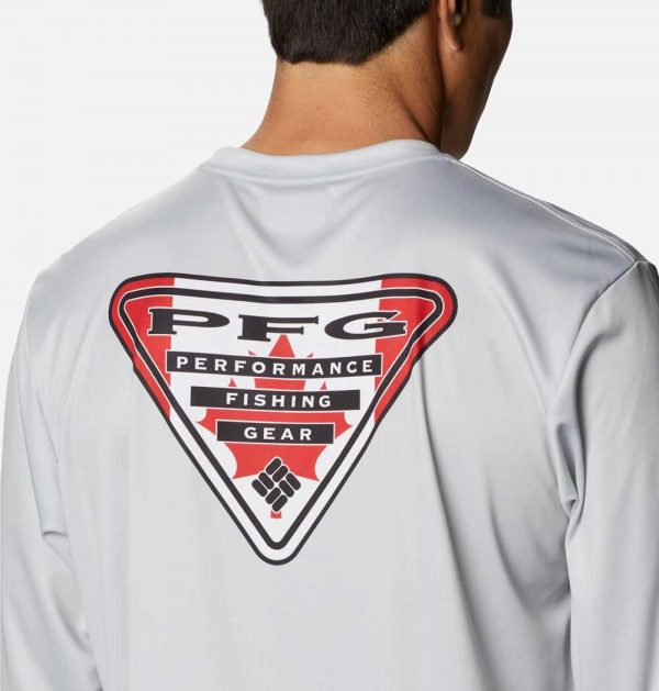 Columbia Mens PFG Terminal Tackle Country Triangle Long Sleeve Shirt