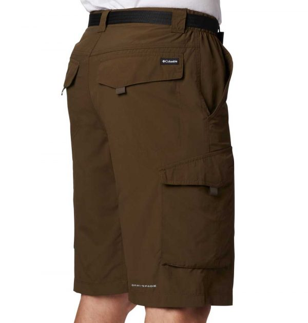 Columbia Mens Silver Ridge Cargo Shorts-Olive Green