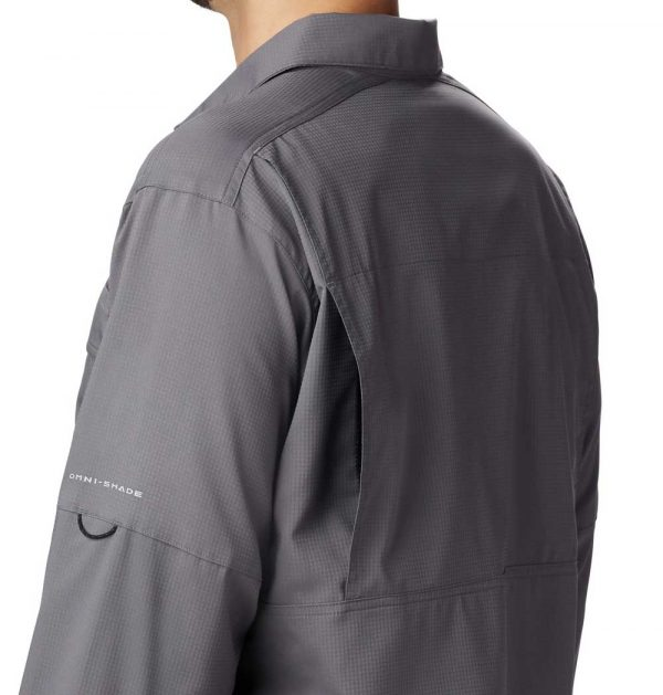 Columbia Mens Silver Ridge Lite-Long Sleeve Shirt-city-grey