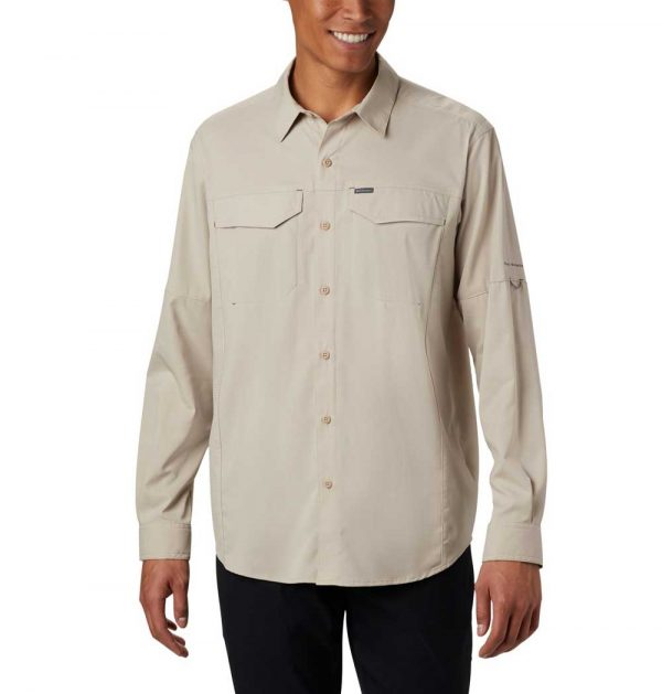 Columbia Mens Silver Ridge Lite-Long Sleeve Shirt-fossil