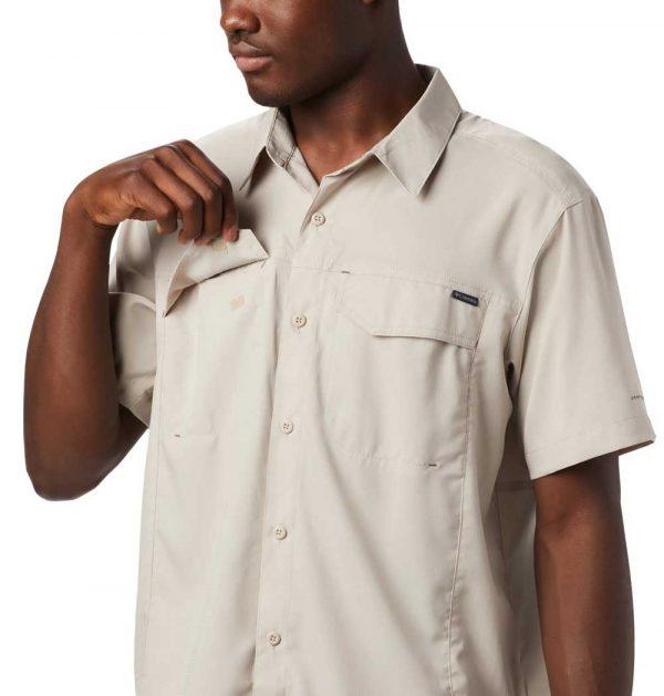 Columbia Mens Silver Ridge Lite Short Sleeve Shirt-fossil