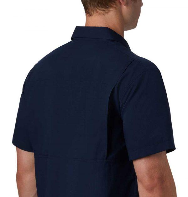 Columbia Mens Silver Ridge Lite Short Sleeve Shirt-navy