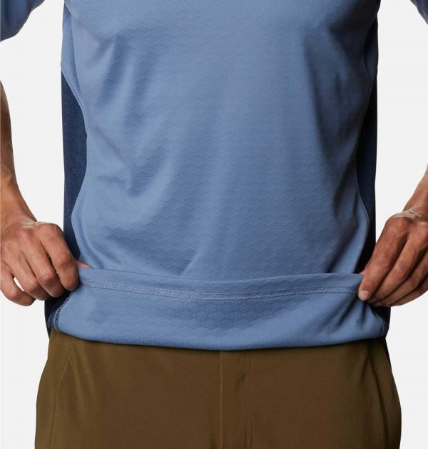 Columbia Mens Zero Ice Cirro-Cool Short Sleeve Shirt-Bluestone