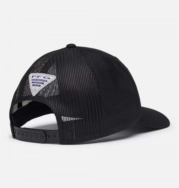 Columbia PFG Mesh Snap Back Fish Flag Ballcap-black