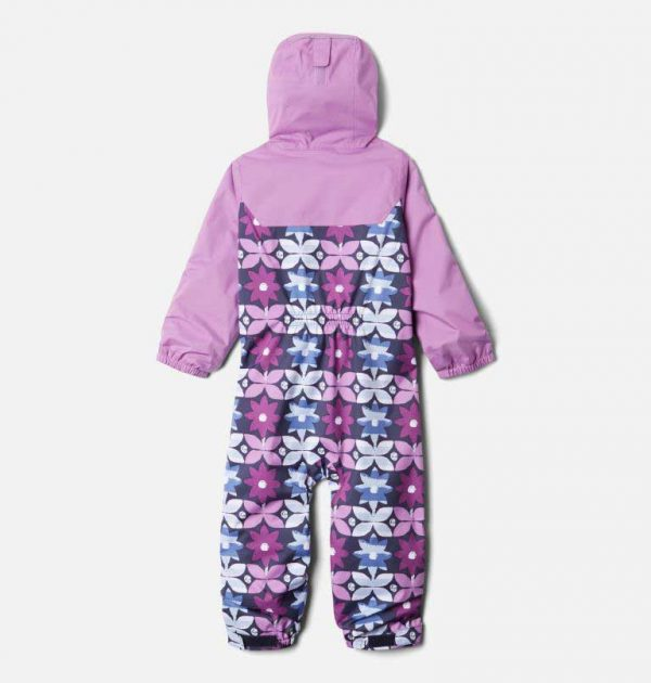 Columbia Toddler Critter Jitters II Rain Suit-Nocturnal Nostalgia Floral, Blossom Pink