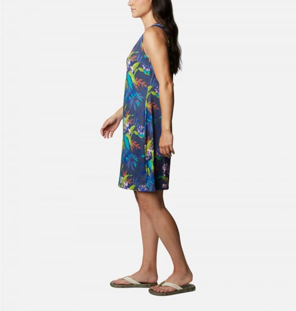 Columbia Womens Chill River Printed Dress-Magnolia