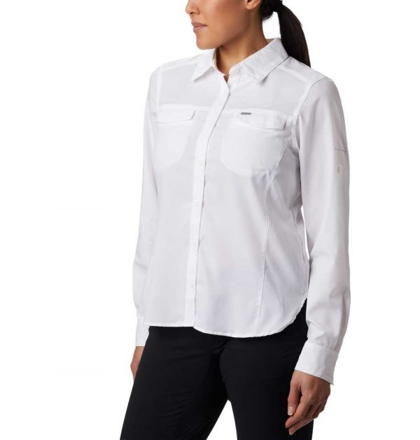 Columbia Women's Silver Ridge Lite Long Sleeve-white