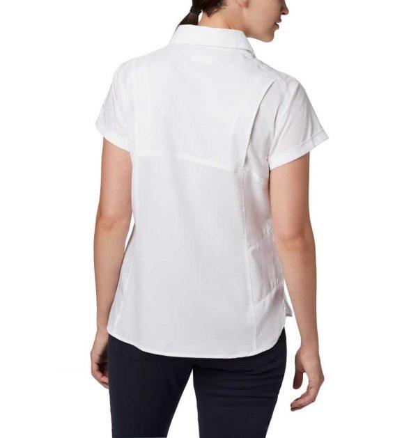 Columbia Womens Silver Ridge Lite Short Sleeve Shirt-white