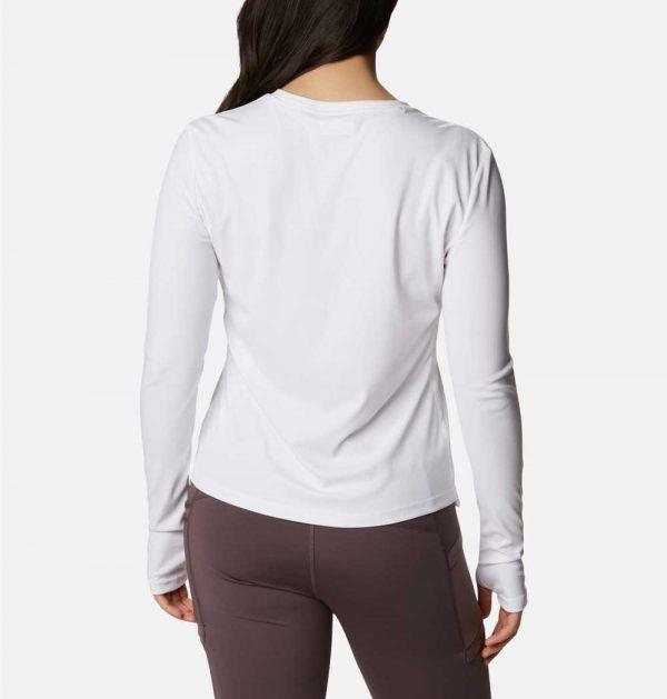 Columbia Womens Sun Deflector Summerdry Long Sleeve Shirt-White