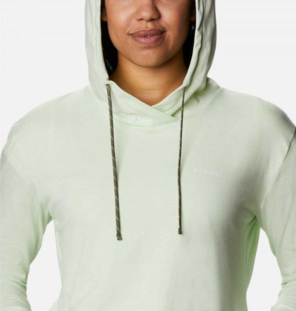 Columbia Womens Sun Trek Hooded Pullover-Light Lime