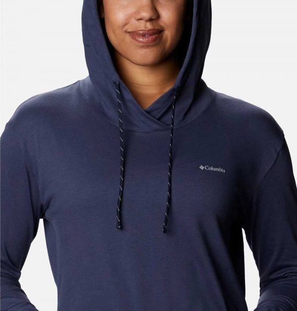 Columbia Womens Sun Trek Hooded Pullover-Nocturnal