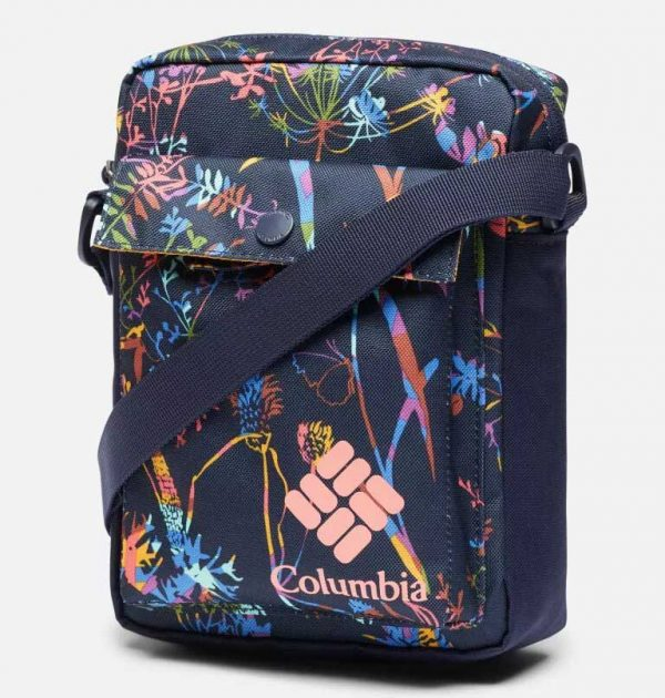 Columbia Zigzag Side Bag-Dark Nocturnal Art Bouquet