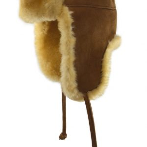 Crown Cap Double Faced Shearling Aviator