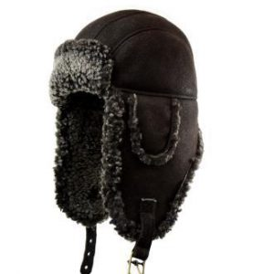 "Crown Cap ""Jones"" Double Faced Shearling Aviator"