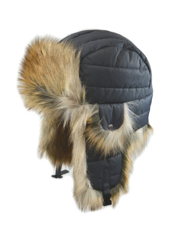 Crown Cap Quilted Heavy Nylon Aviator
