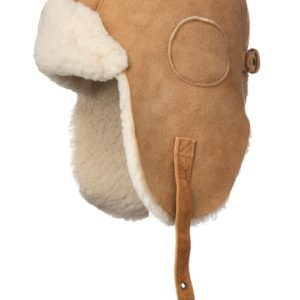 Crown Cap Shearling Aviator Camel