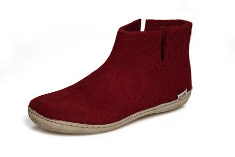 Glerups Boot Leather Sole Cranberry