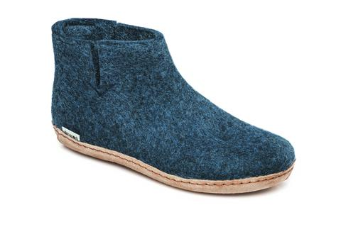 Glerups Boot Leather Sole Denim