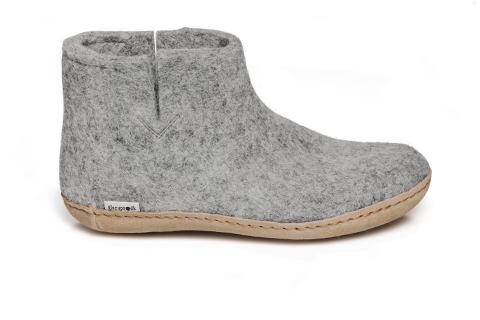 Glerups Boot Leathher Sole Grey