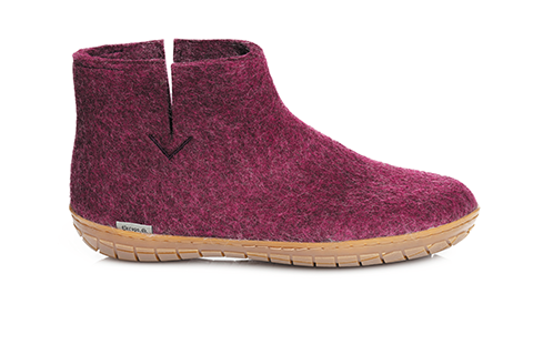 Glerups Boot Rubber Sole Cranberry