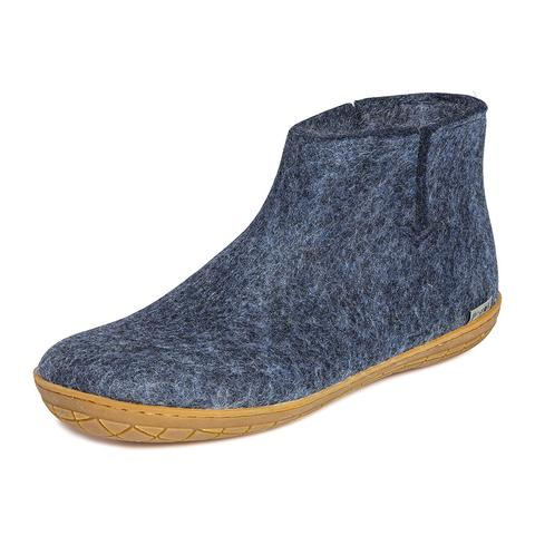 Glerups Boot Rubber Sole Denim.