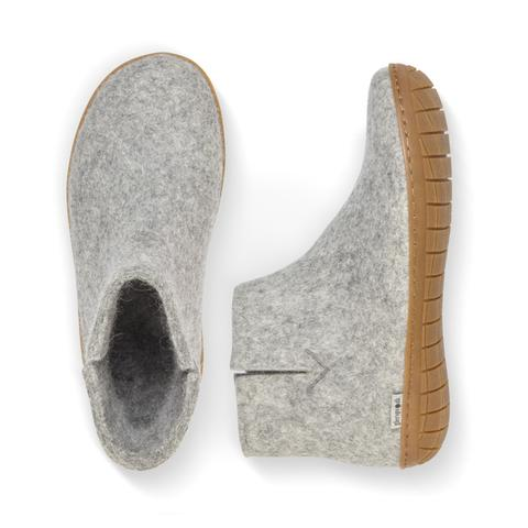 Glerups Boot Rubber Sole Grey.
