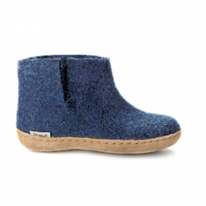 Glerups Leather Sole Boot Kids Denim