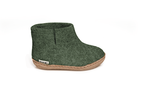Glerups Leather Sole Boot Kids Forest