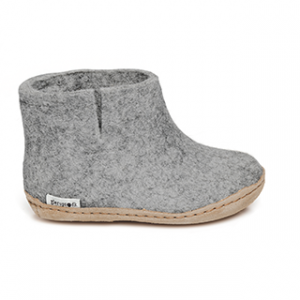 Glerups Leather Sole Boot Kids Grey