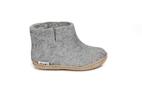 Glerups Leather Sole Boot Kids Grey