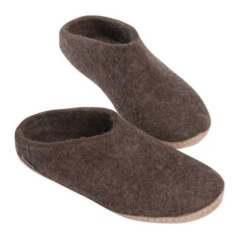 Glerups Open Heel Leather Sole Brown