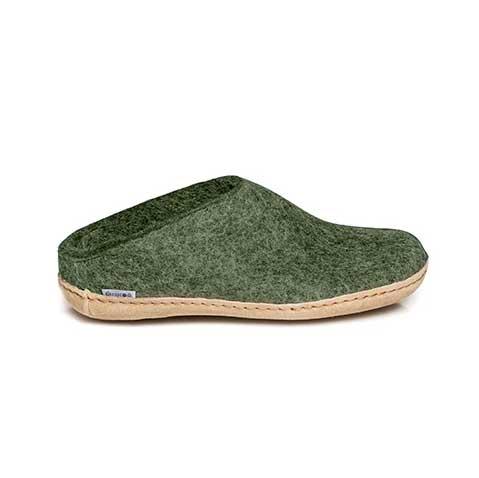 Glerups Open Heel Leather SoleGlerups Open Heel Leather Sole Forest