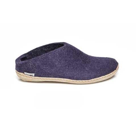 Glerups Open Heel Leather Sole Purple