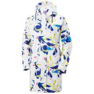 Helly Hansen Women Moss Rain Coat Sling White Print