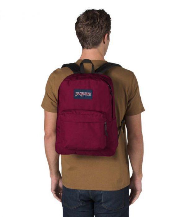 Jansport Superbreak Backpack Russet Red.