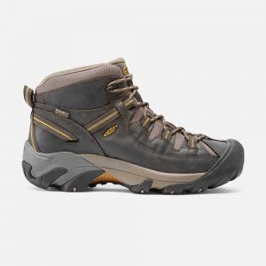 Keens Men Targee II Mid Black Olive Yellow