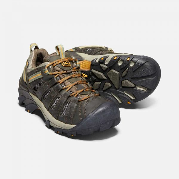 Keens Men Voyageur Black Olive Inca Gold