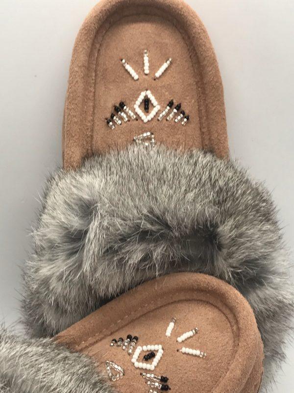 Laurentian Chief Fur Beige Slipper
