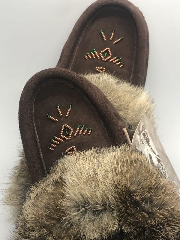 Laurentian Chief Fur Brown Slipper