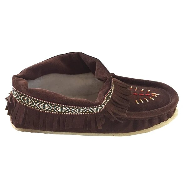 Laurentian Womens Moccasians with fringe