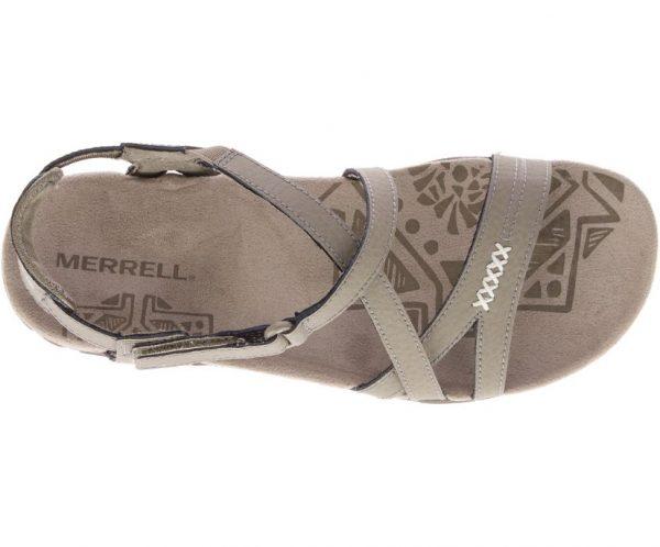 Merrell Sandspur Rose Leather Sandal Womens Beige