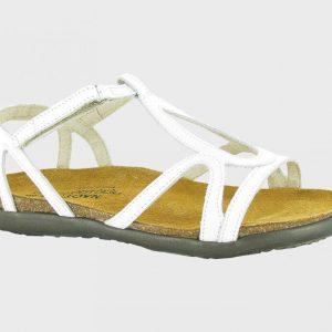 Naot Piatta Dorith: 4710 White Lthr Womens