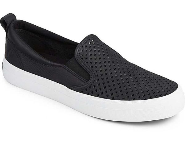 Sperry Womens Crest SO Scallop Black