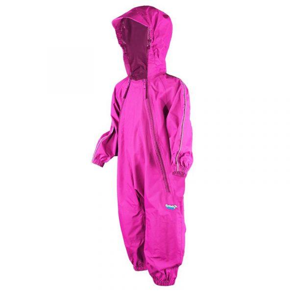 Splashy Nylon One Piece Rain And Mud Suits Kids Pink