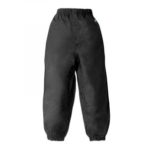 Splashy Nylon Rain Pants Black