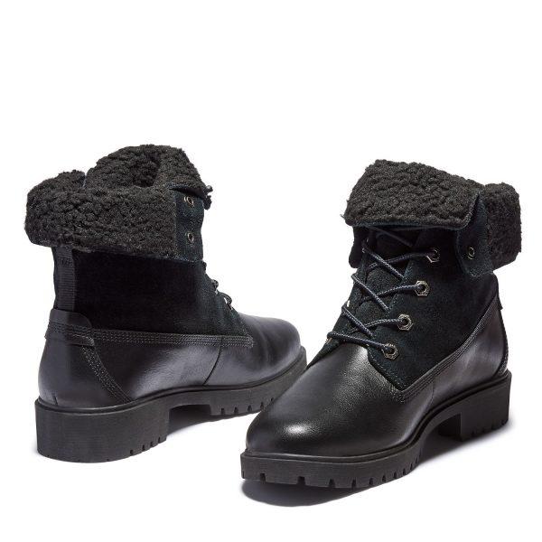 Timberland Jayne Waterproof Fleece Fold-Down Boots Black
